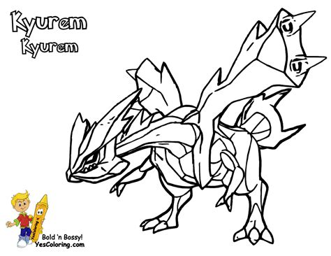 Pokemon Coloring Pages Kyurem | free coloring pages of pokemon zekrom y reshiram