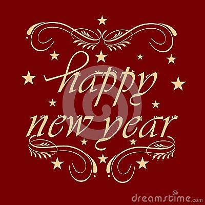 new year floral design new year 2015 celebration poster design stock photo
