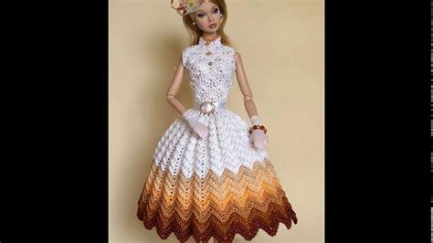 vestidos de tejido fotos de vestidos para mu 241 ecas barbie tejidos youtube