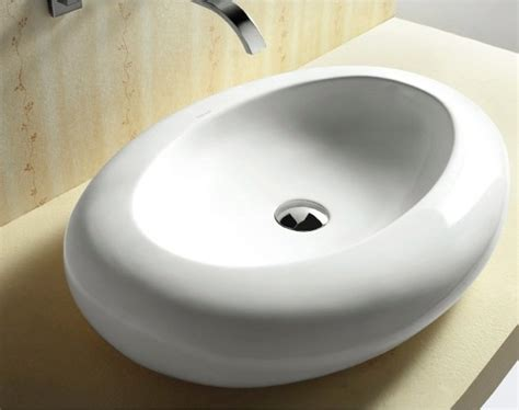 shallow bathroom sink modern shallow oval shaped vessel bathroom sink by