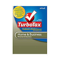turbotax home and business fed efile state 2012 windows