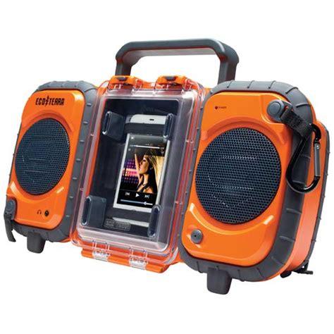 west marine orange ecoxgear ecoterra waterproof boombox orange west marine