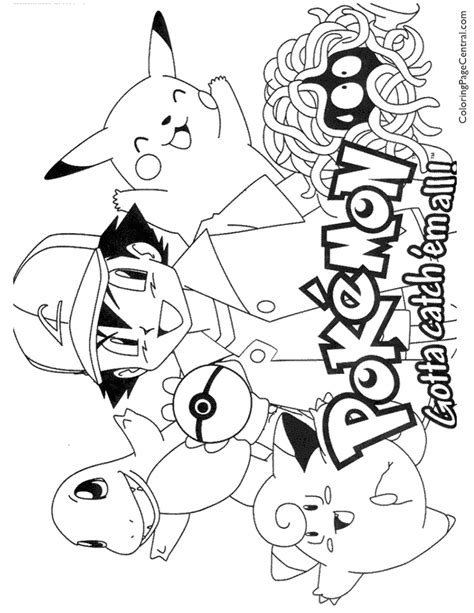 pokemon coloring 01 coloring central
