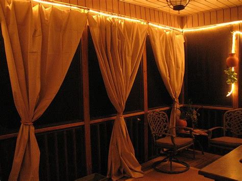 Canvas Drop Cloth Curtains Drop Cloth Curtain Tutorial For The Screened In Patio