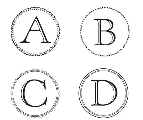 Free Monogram Letters You Can Download And Use To Make Banners Party Ideas Entertaining Banner Letter Template