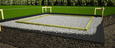 Shed Foundation Gravel by How To Build A 20 X 10 Shed Nma