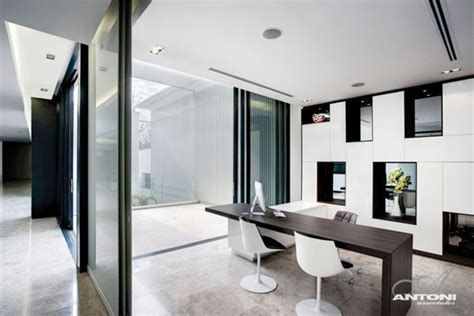 contemporary home office sparkling glass house in johannesburg twinkles with