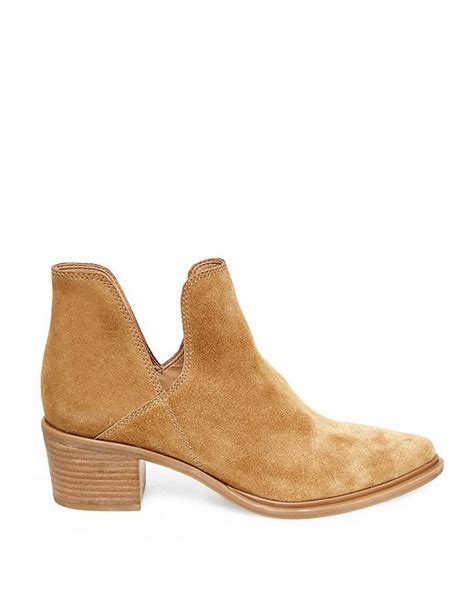 steven by steve madden dextir suede ankle boots in brown