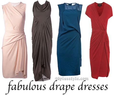 how to do draping on a dress some great drape dresses for women over 40 you can buy
