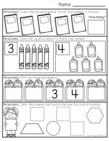 kindergarten morning math worksheets worksheets numbers