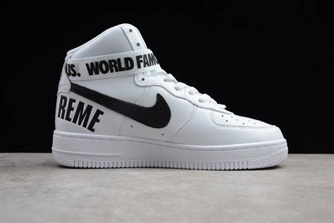 nike air 1 high supreme supreme x nike air 1 high white black for sale