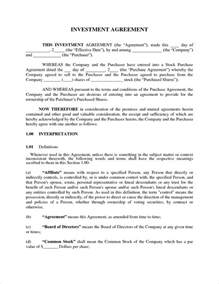 Investment Report Template by 3 Investment Agreement Templatereport Template Document