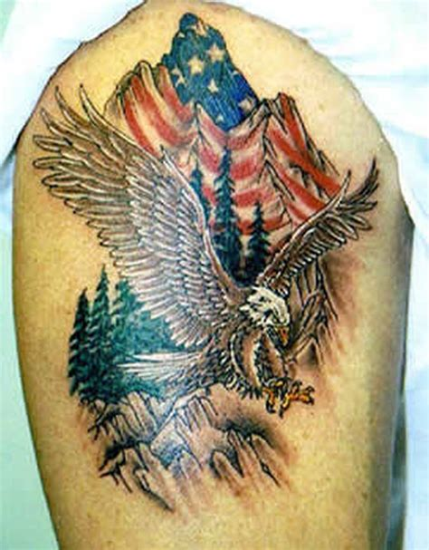 american eagle tattoo eagle flag shoulder www pixshark images