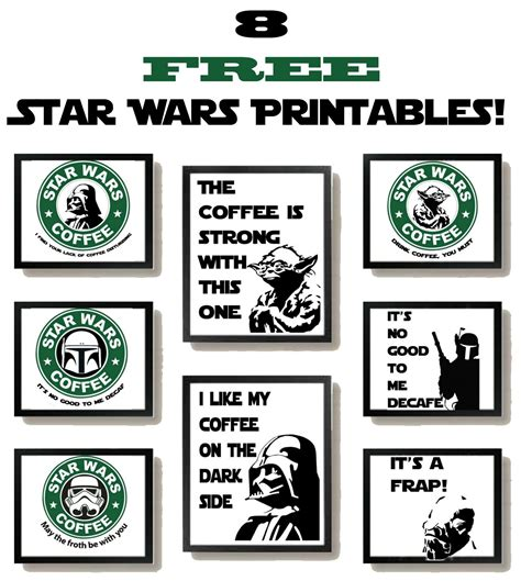 kit printable star wars free star wars printables with a coffee theme coffee