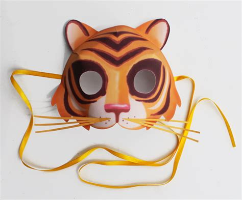 How To Make A Tiger Mask Out Of Paper - easy to make printable tiger mask animal mask templates