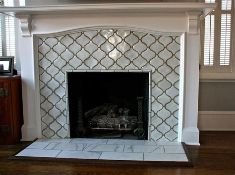 Moroccan lattice tile fireplace. Yes please.   Home Bling