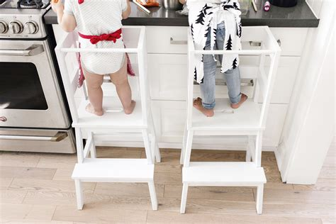 Toddler Kitchen Stool Ikea by Ikea Hack Toddler Learning Tower Stool Happy Grey Lucky