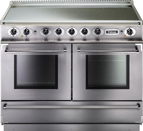 electric induction range cookers 110cm buy falcon 1092 continental stainless steel chrome 110cm electric induction range cooker 83610
