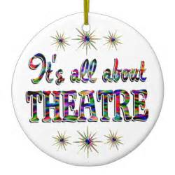 about theatre double sided ceramic round christmas