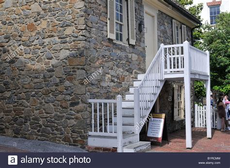 old stone house dc the old stone house in georgetown dc the oldest building still stock photo royalty