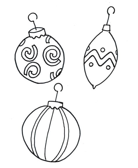 free printable christmas decorations to colour printable coloring pages christmas ornament free