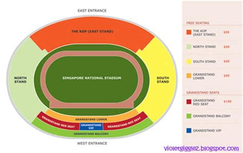 singapore national stadium seating plan violetz realm my 1st live football match