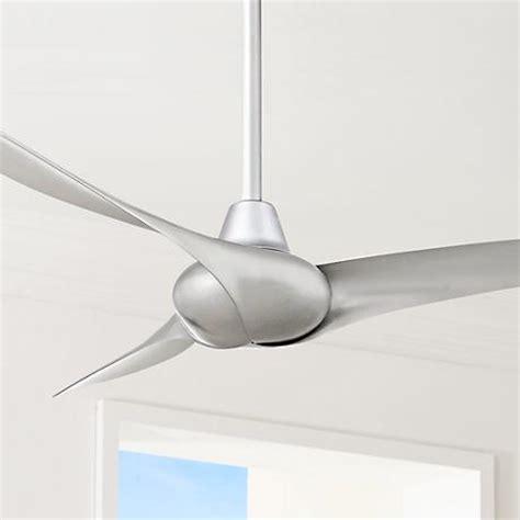 silver ceiling fans 52 quot minka aire wave silver ceiling fan 2n503 ls plus