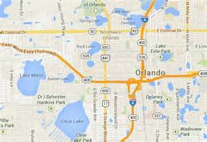 state of florida map mileage driving distance from orlando about orlando