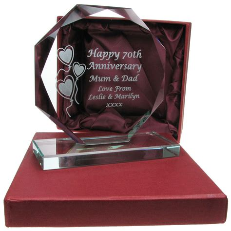 Wedding Gift Ebay by Engraved 60th Wedding Anniversary Personalised Cut
