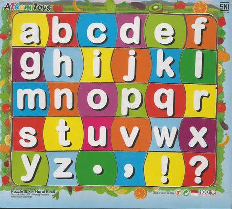 Abc Magnet Huruf Kecil puzzle kayu alfabet huruf kecil daftar harga terkini dan