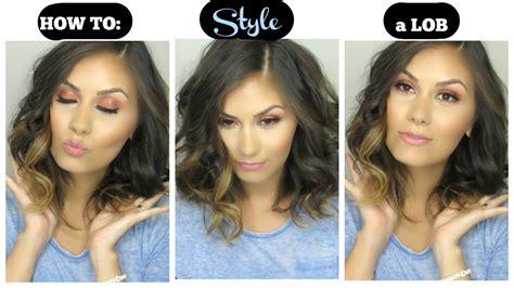 how to style a lob or long bob photos momtastic how to style a lob long bob hair tutorial youtube
