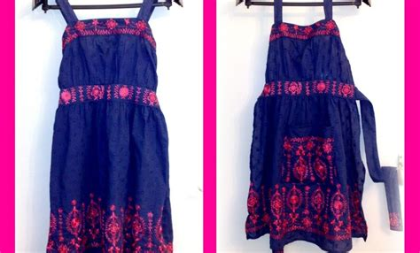 tutorial apron dress karima s crafts dress to apron tutorial
