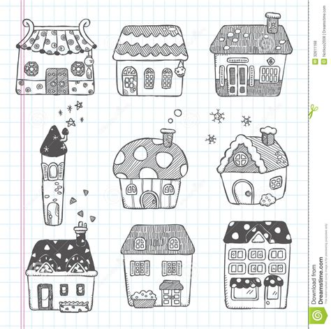 doodle house doodle house icon royalty free stock photos image 32611168