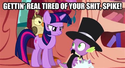 Getting Real Tired Of Your Bullshit Meme Generator - getting real tired of your shit spike my little pony friendship is magic know your meme