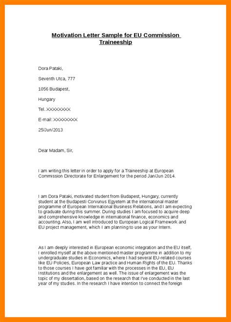 5  example of motivation letter for internship   emt resume