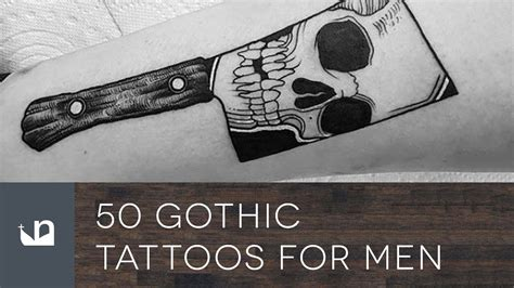 gothic tattoos for men 100 tattoos for 100 ideas