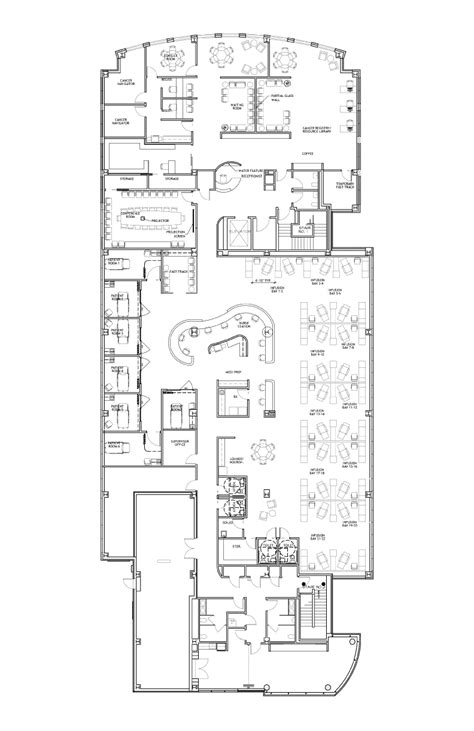 cancer center floor plan oncology center floor plans click floorplan to view