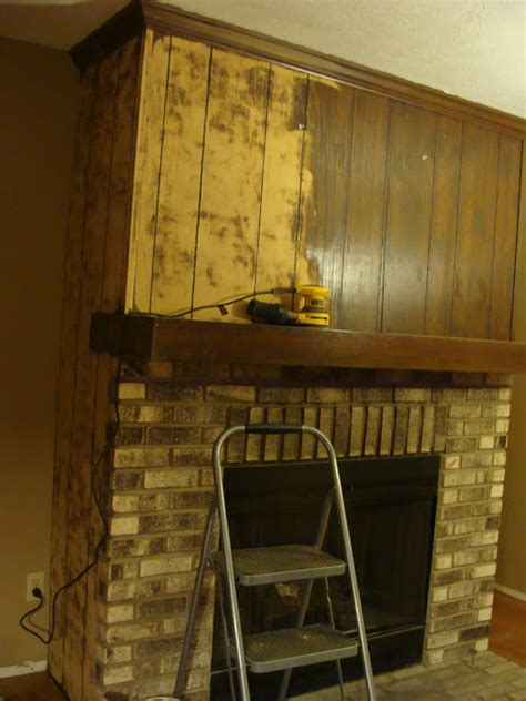 wood paneling makeover fabtwigs wood paneling fireplace makeover how to fill