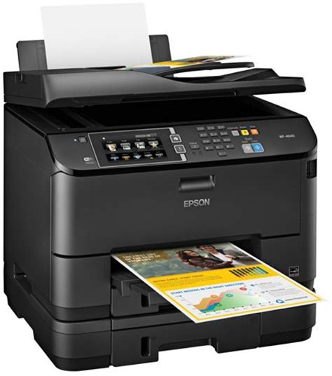 Printer All In One Epson Pro Workforce Wp 4590 epson workforce pro wf 4640 wireless color all in one inkjet printer with scanner and copier