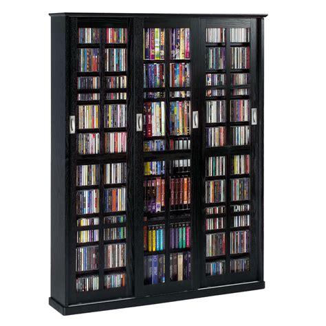 leslie dame multimedia storage cabinet black ms 1050b