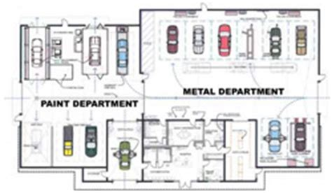 auto body shop floor plans floor plan of shop specialty paint body