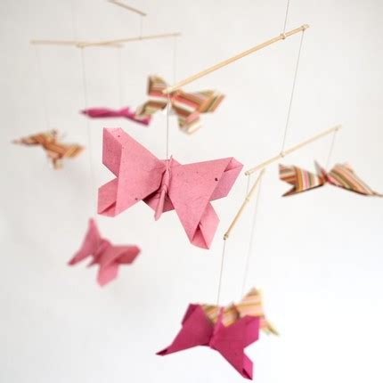 Origami Butterfly Mobile - esther s recommendations butterfly mobiles room for