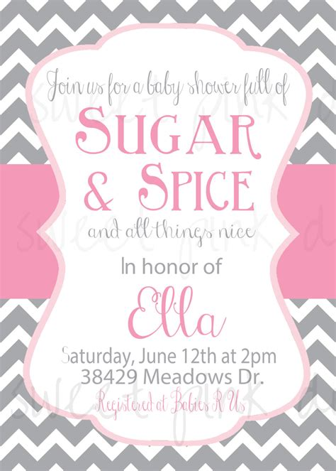 Sugar And Spice Baby Shower Invitations by Sugar And Spice Baby Shower Invitations Free Printable