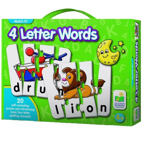 Puzzle Match It Spelling 4 letter words spelling match it puzzle educational