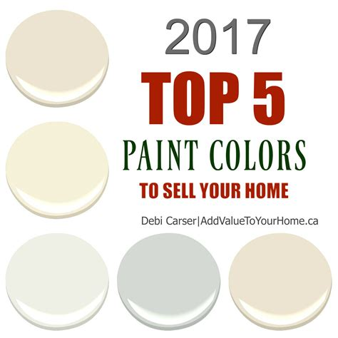 2017 popular colors 2017 top 5 paint colors to sell your home add value to