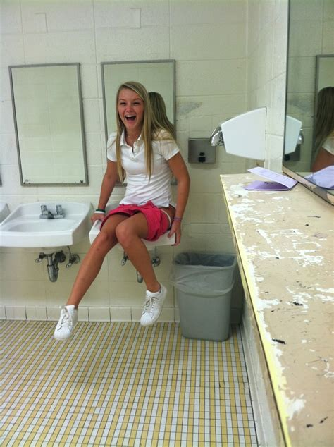 Girls on the toilet