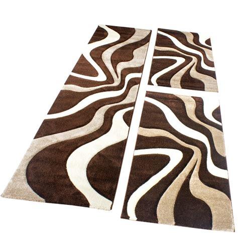teppich laeufer modern l 228 ufer set modern braun design teppiche