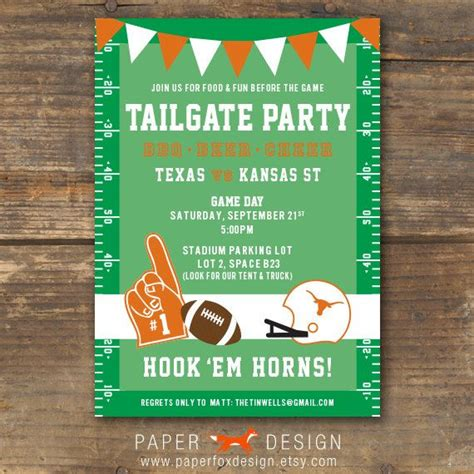 Come With Me Tailgate Ae Invites football tailgate or invitation ut