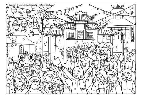 2016 new year animal color new year celebration colouring page