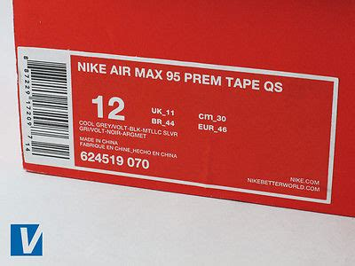 Nike Shoe Box Label Template how to authenticate nike air max 95 s ebay